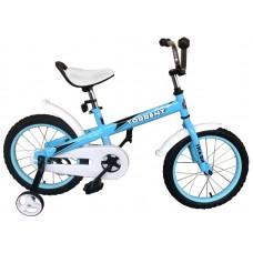 Детский велосипед TORRENT Shark 14 (добавочные колёса,1скорость, колёса 14 , рама сталь) 14  / 10  / Голубой, белый