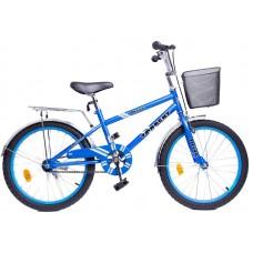 Детский велосипед TORRENT Drive (Дорожный, 1 скорость, рама сталь, колеса 20 , корзина) 20  / 11  / Голубой