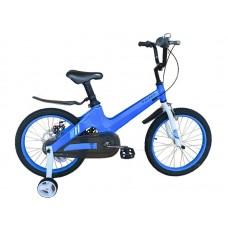 Детский велосипед TORRENT Galaxy 18 (добавочные колёса,1скорость, колеса 18д, рама магниевый сплав) Голубой