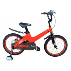 Детский велосипед TORRENT Galaxy 18 (добавочные колёса,1скорость, колеса 18д, рама магниевый сплав) Красный