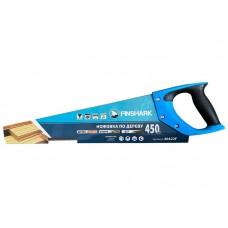 Ножовка FinShark по дереву 450мм 5TPI,  крупный зуб, заточка 2D,рукоятка 2-х компонентрная с резиновыми вставками.