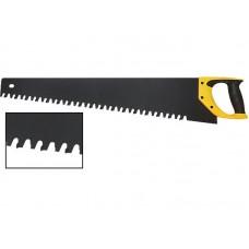 Ножовка по пенобетону, карбидные вставки на каждом 2-ом зубе, прорезиненная ручка 700мм (6/24шт/уп)