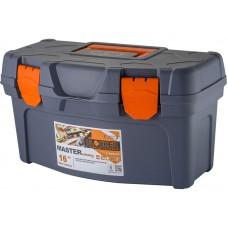 Ящик для инструмента Master Economy 16  40,8х21,8х22,3см серо-свинцовый/оранжевый (12)