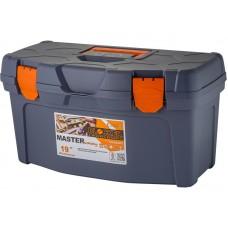 Ящик для инструмента Master Economy 19  48,5х26х25,8см серо-свинцовый/оранжевый (7)