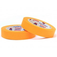 Лента маскировочная EUROCEL 80°С-30мин, оранжевая, 25ммx40м MSK 6267 /36шт