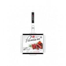 Решетка GRIFON Premium Гриль Глубокая 36 x 28 x 5 см, с чехлом, со съемной ручкой, нерж. сталь 2 мм