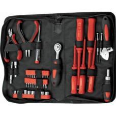 Набор инструмента 45шт (отвертки, биты, ключ разводной, пасс.-мини), матерчатый чехол (10шт/уп)