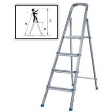 Лестница-стремянка стальная, 4 ступени, вес 4,5 кг