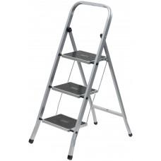 Лестница-стремянка стальная, 3 широкие ступени, Н=105 см, вес 4,7 кг