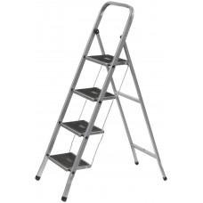 Лестница-стремянка стальная, 4 широкие ступени, Н=129 см, вес 6,25 кг
