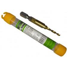 Сверло-метчик SHERSHEN M3*0.5мм Быстрорежущая сталь P6M5, титановое покрытие (70900K)