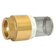 Обратный клапан, стержень латунь 1  с сеточкой Арт.343 (120/12шт/уп)