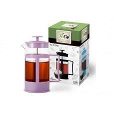 Френч-пресс TECO, TС-P1035- P (фиолетовый)  0,35 л. из пластика и стекла цветной