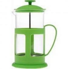 Френч-пресс TECO, TС-P1060-G(зеленый)  0,6 л. из пластика и стекла цветной