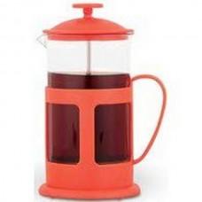 Френч-пресс TECO, TС-P1060-R(красный)  0,6 л. из пластика и стекла цветной