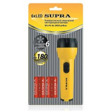 Фонарь пластик SUPRA SFL-PL-6L yellow 2411